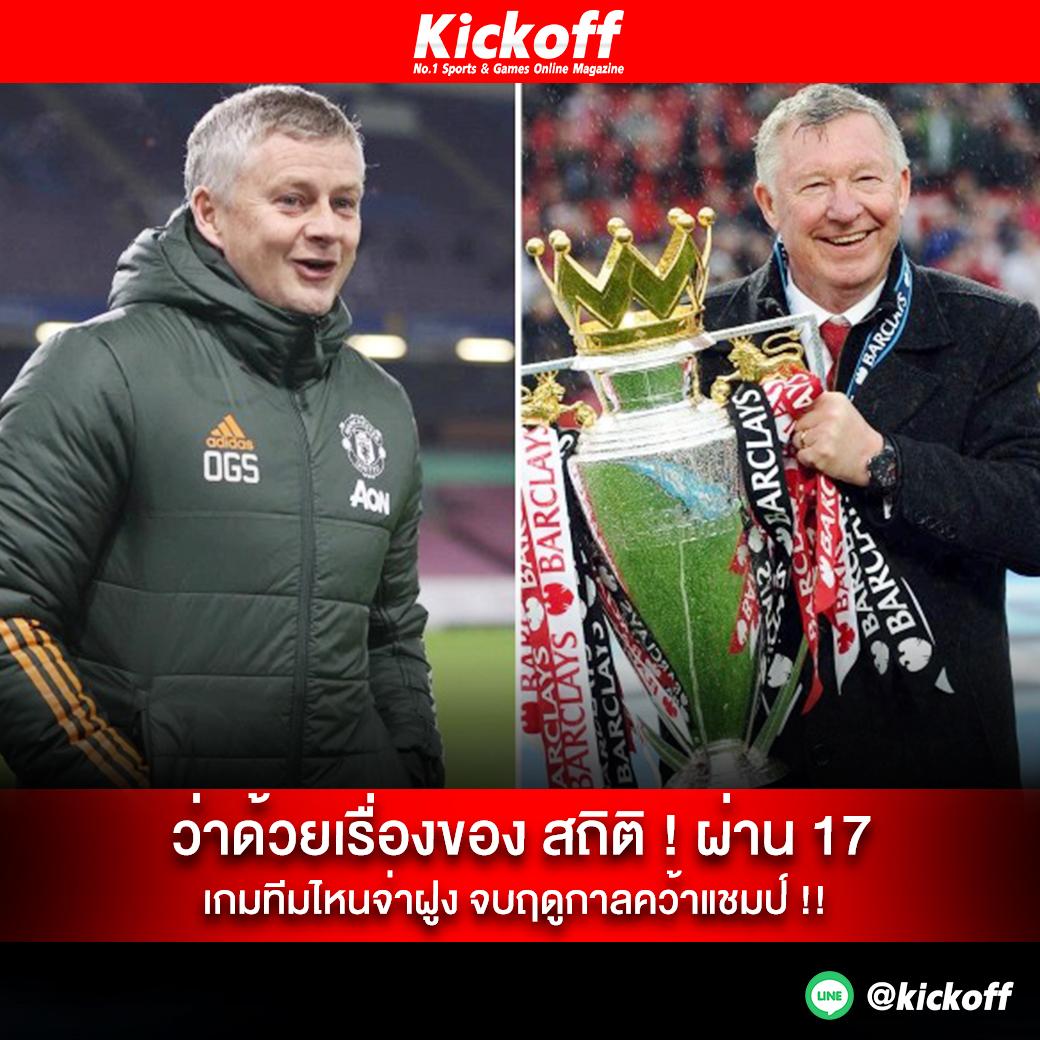 ว่าด้วยเรื่องของ สถิติ ! ผ่าน 17 เกมทีมไหนจ่าฝูง จบฤดูกาลคว้าแชมป์ !! อ่านต่อ  #ผลบอลล่าสุด #ไฮไลท์ฟุตบอลเมื่อคืน #โปรแกรมบอลคืนนี้  #PremierLeague #ลิเวอร์พูล #Liverpool #ManchesterUnited