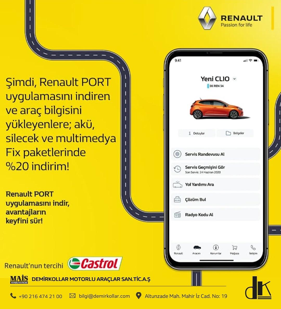 Renault PORT uygulamasını indir, avantajların keyfini sür!  #demirkollar#demirkollaryetkiliservis#kampanya#fırsat#renault#scooter#araç#araba#otomobil#otomotiv#satış#sigorta#aksesuar#health#corona#korona#coronavirus#stayathome#Evdekal#socialdistance