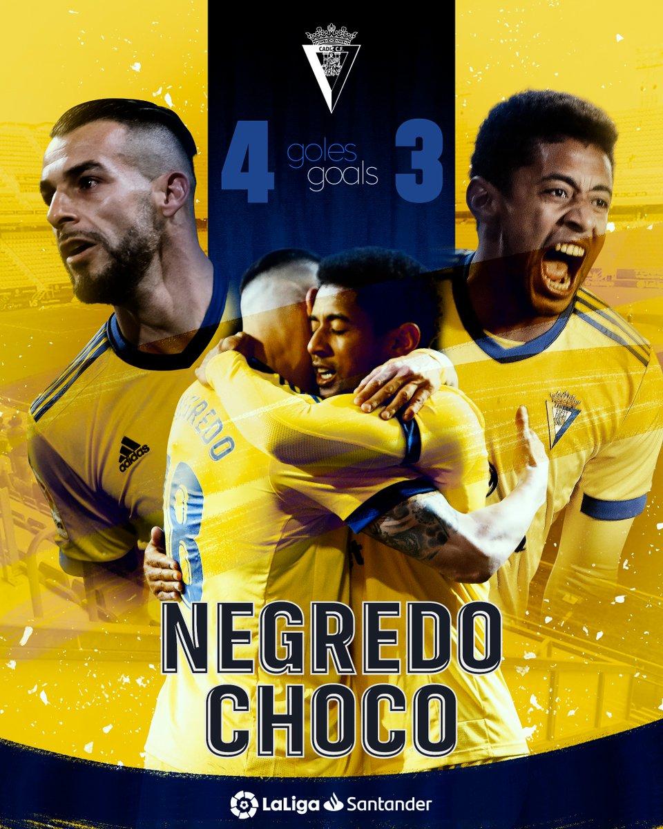 Top buteurs du @Cadiz_CFFR  cette saison en #LaLigaSantander !  🔝🔥  ⚽💛@AlvaroNegredo9 ⚽💛'Choco' Lozano  #YouHaveToLiveIt