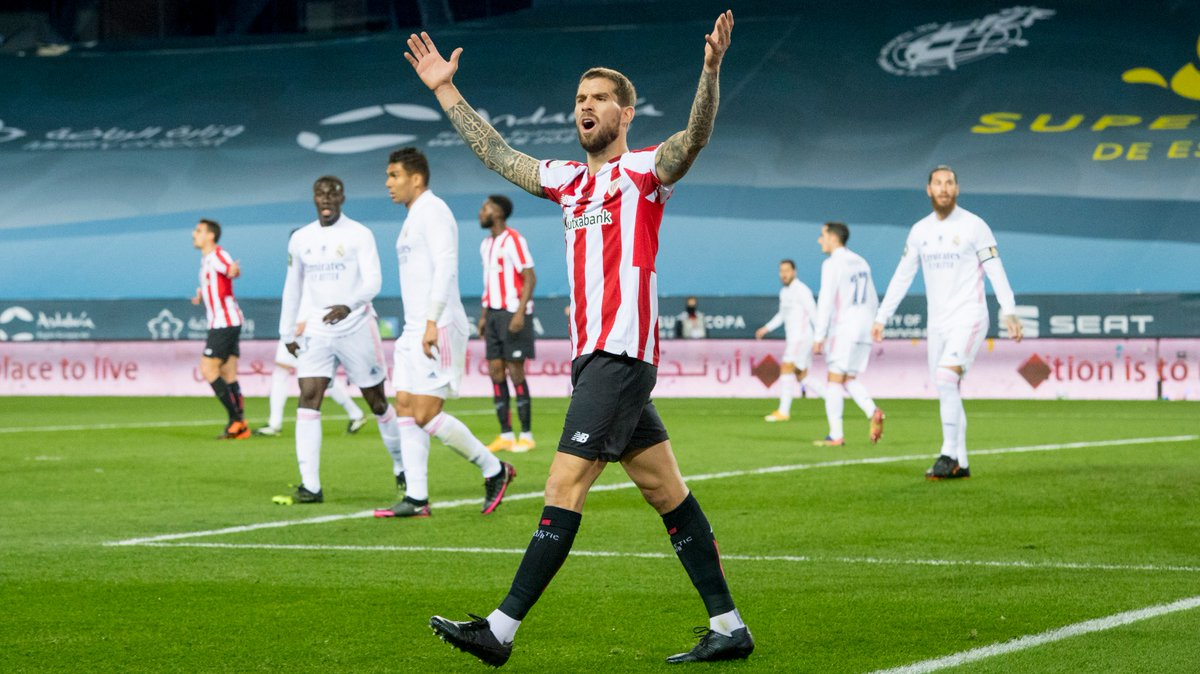 """🎙️ @InigoMartinez after #RealMadridAthletic last night:  🗣️ """"Although they're not here with us, I hope the Athletic fans are enjoying it a lot. They deserve it. It would be incredible to celebrate the victory with all of them.""""  #BiziAmetsa 💭 #AthleticClub 🦁"""