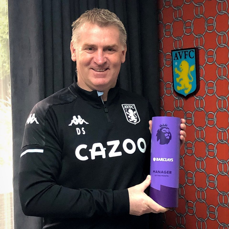 A huge congratulations to Dean Smith of @AVFCOfficial, December's Barclays Manager of the Month in the @premierleague 👏⚽️  It's #AllToPlayFor