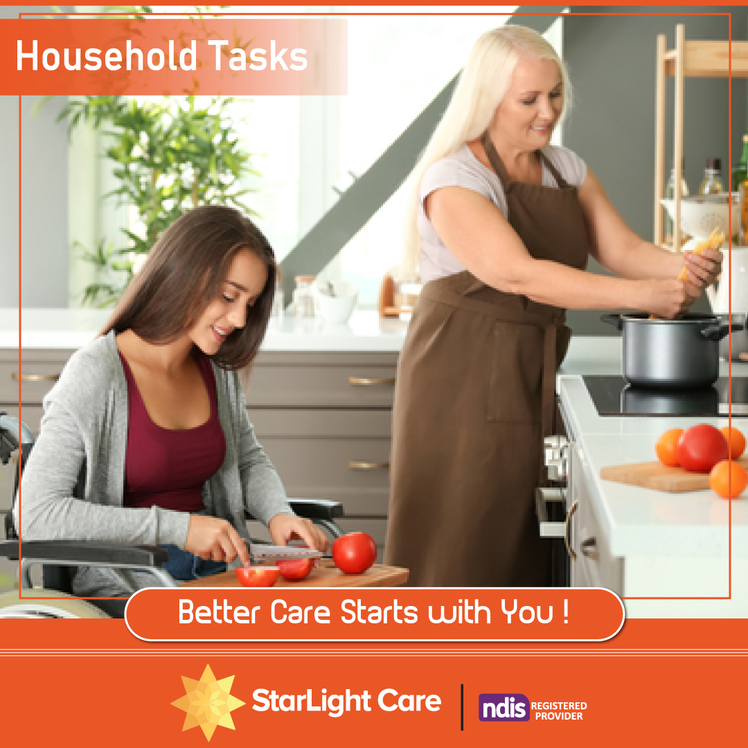 In situations where a #participant's #disability prevents them from being able to do #household #tasks, we can step in to handle them for you. #Starlight Care can help with essential household tasks that the #individual is not able to perform #independently.  #cooking #cleaning https://t.co/nDzeNuPIGZ