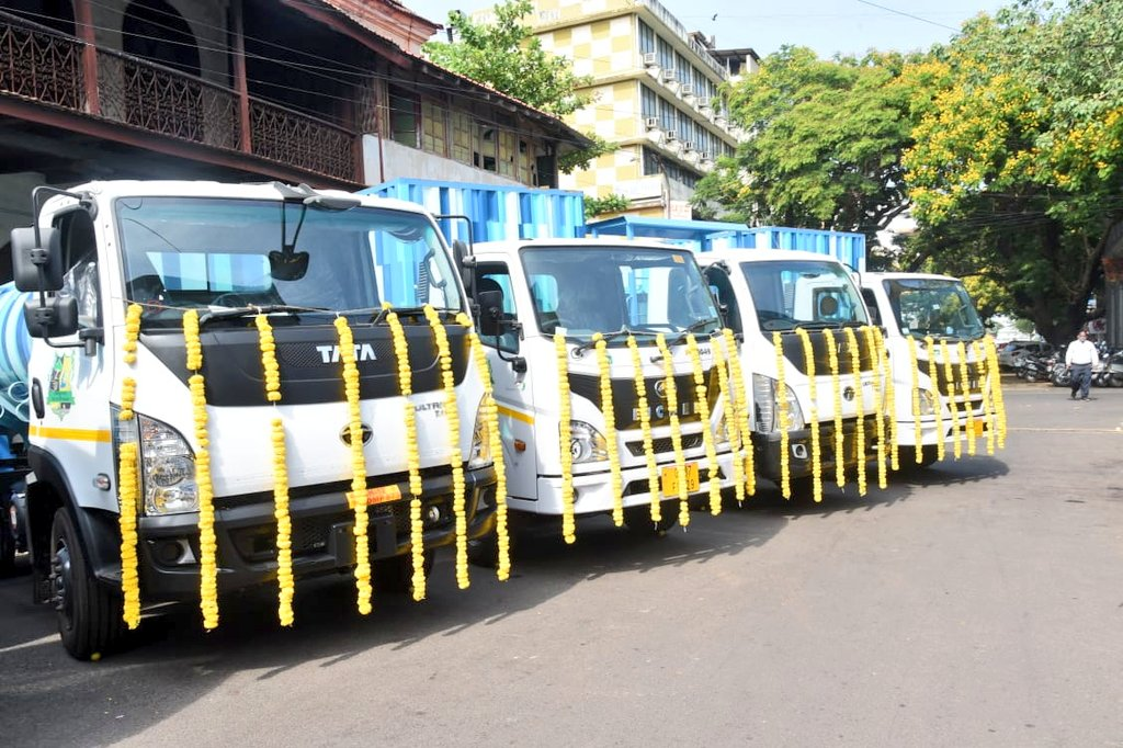Flagged off 17 Advance Segregated Waste Collection Vehicles by Corporation of City of Panaji.