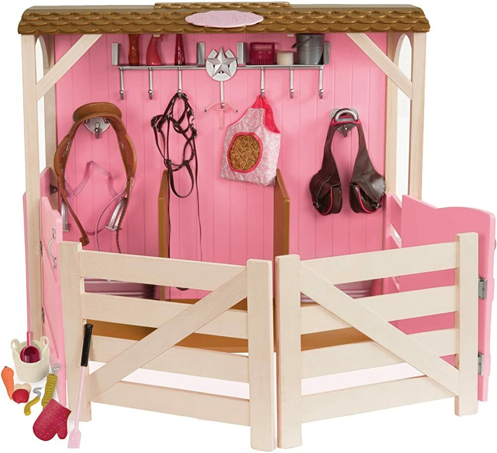 "Our Generation Dolls Saddle Up Stables Horse Barn for Dolls, 18""  #gifts #giftideas #dog #cat #puppy #pets  #blackfriday #thanksgiving #cybermonday @amazon #amazon #primeday"