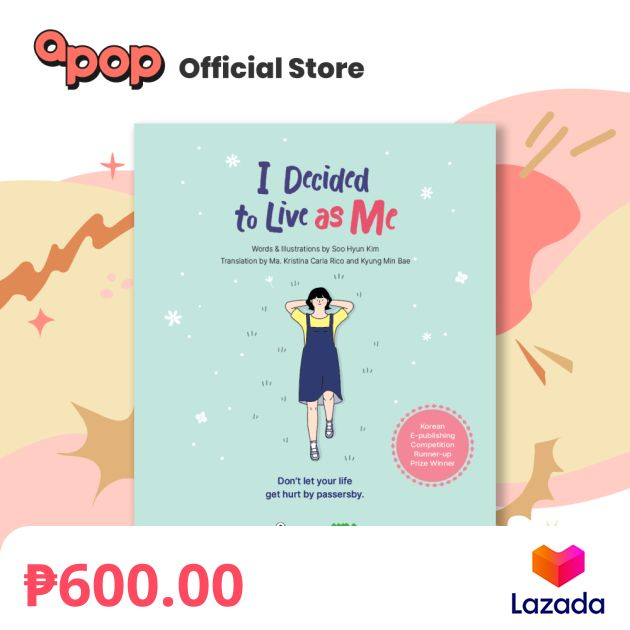 """""""When will you be on Lazada? 😭"""" Say no more. We're finally on @LazadaPH as well, friends!  What are you waiting for? Click the link and addeu to carteu now! 💙    #나는나로살기로했다 #idecidedtoliveasme #apopbooks #books #booksph #LazadaPh"""