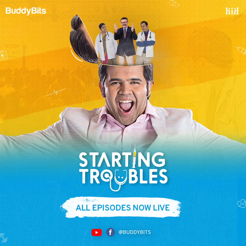 """It's time to grab popcorn coz all episodes of """"Starting Trouble"""" are now live on our YouTube channel! 🎉🍿  Watch now!   #StartingTroublesOnBuddyBits"""