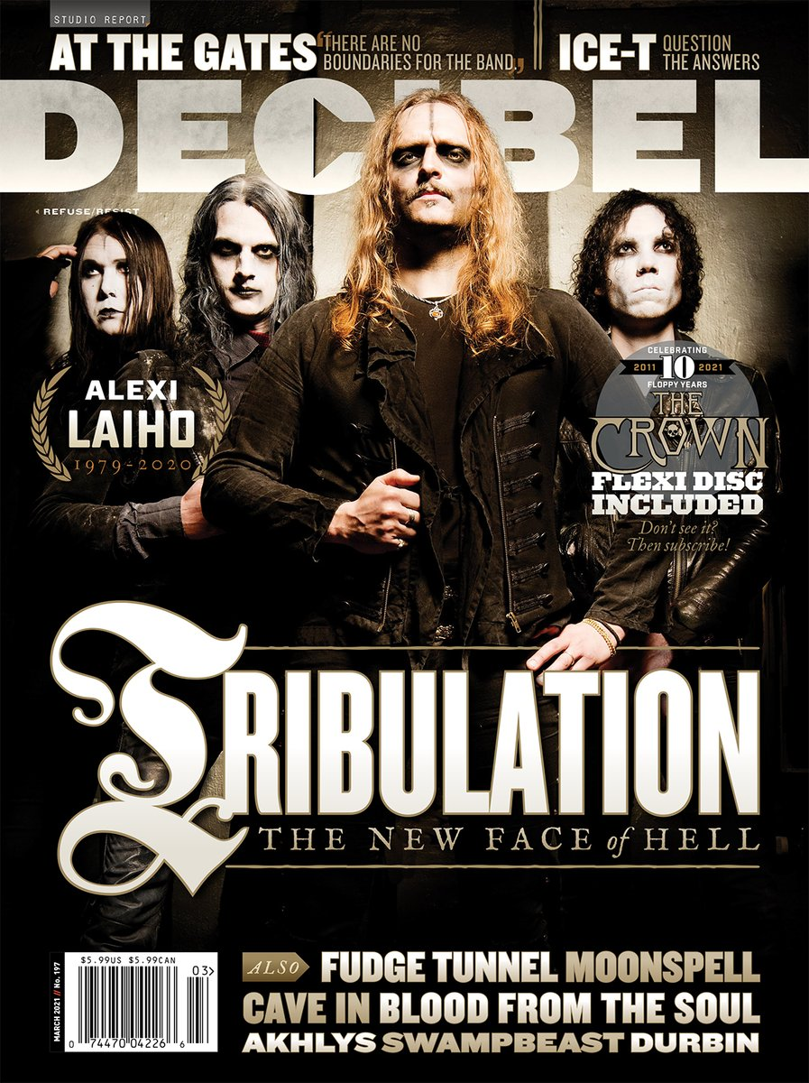 #Tribulation graces the cover of @dbmagazine's March '21 issue; launches new single #FuneralPyre! Their new record, #WhereTheGloomBecomesSound drops Jan. 29th!  Watch/listen to #FuneralPyre below!  🎵:   Grab the #Decibel mag HERE: