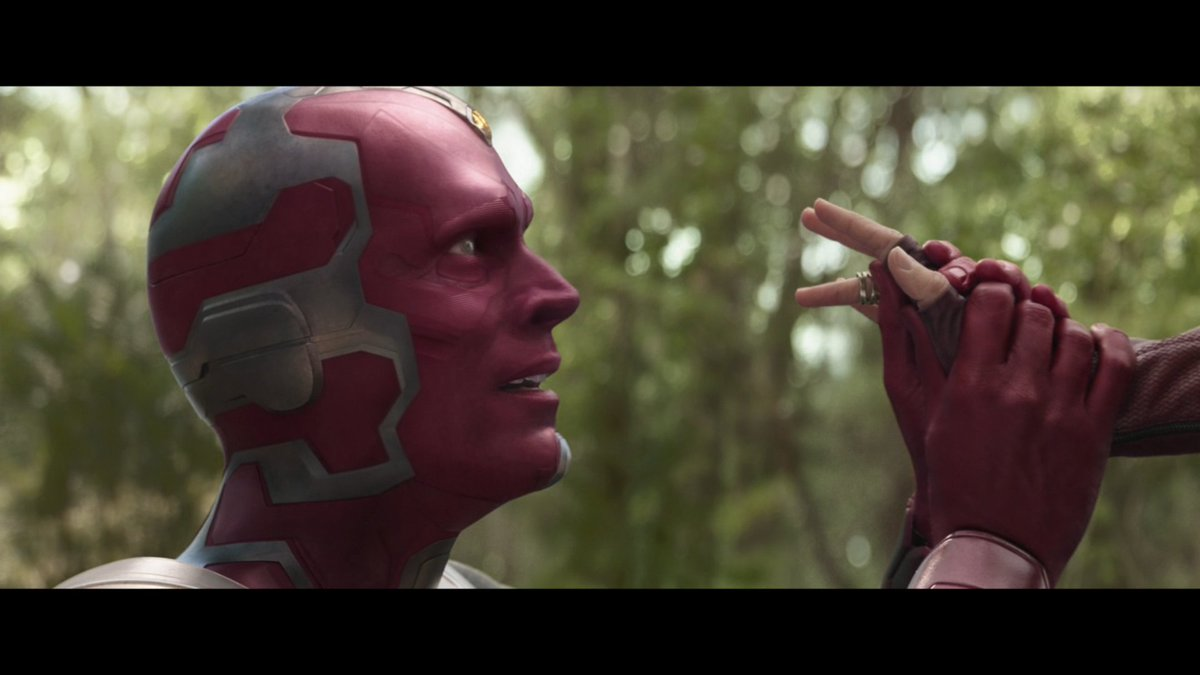 Avengers: Infinity War Directed by Joe Russo and Anthony Russo Streaming on Disney+  #AvengersInfinityWar #Vision #WandaMaximoff #ScarletWitch #RussoBrothers #Screenshot