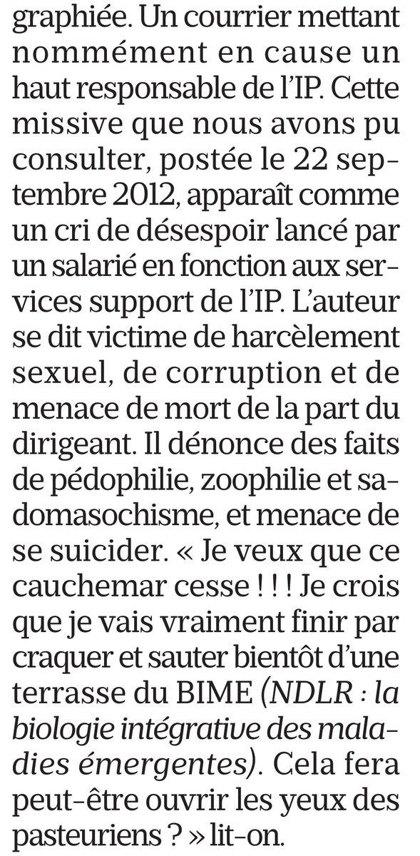 ⚡🇲🇫INFO - En 2012 , Jérôme #Salomon [actuel DG de la Santé] a été licencié de l'Institut Pasteur dans d'étranges conditions. Il a été accusé d'être un corbeau par 2 salariés après la diffusion d'une lettre anonyme. Il a nié en être l'auteur. (Le Parisien)