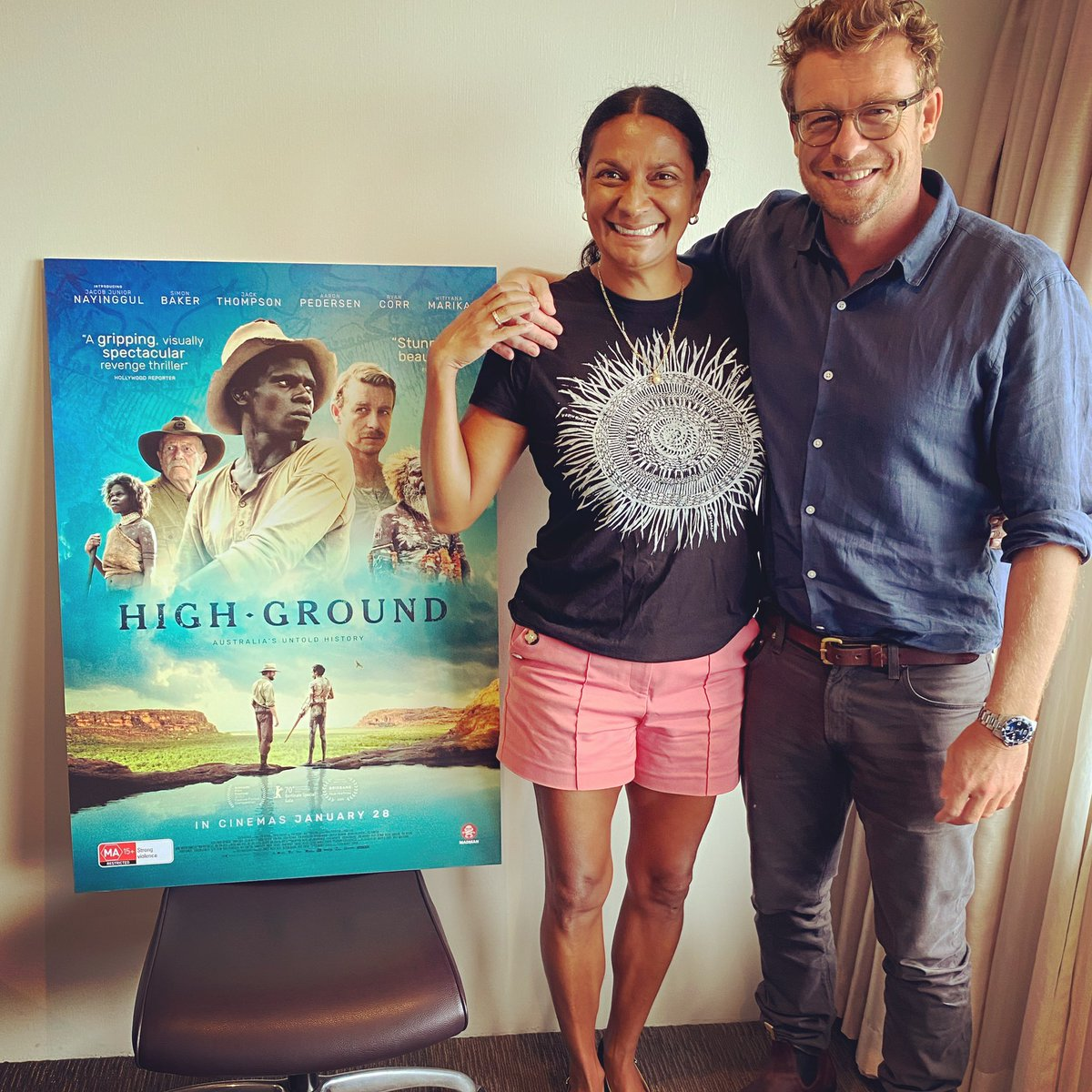 Honoured to meet and have a yarn with the incredible Simon Baker who stars in @HighGroundFilm coming to cinemas on Jan 28th. #simonbaker #novaperis #dreamwalker #thementalist