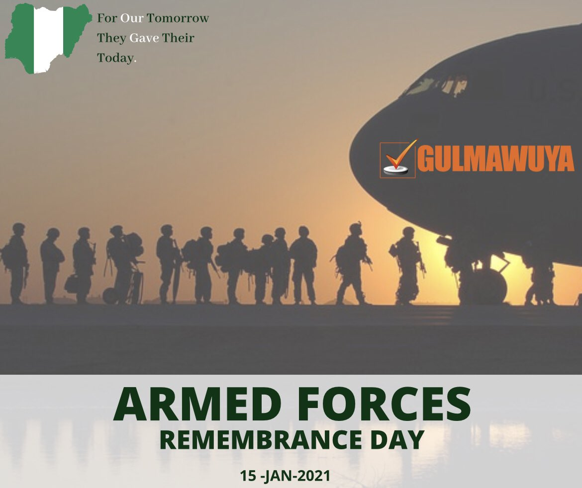 Today, we salute the strength and commitment of our brave men and women in the Nigerian Armed Forces. #ArmedForcesRemembranceDay #remembranceday #army #forces