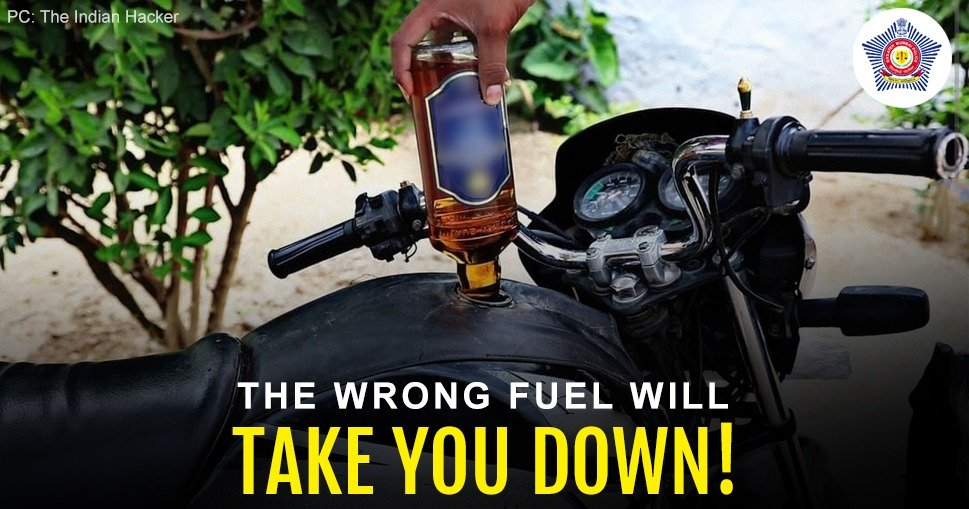 Drinking and riding is a deadly cocktail.  Never fuel up on alcohol before a ride. #FuelUpOnSafety #DontDrinkAndDrive #RoadSafetyWeek
