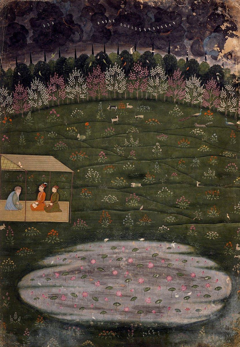 An Ornate painting of 1of the many meets of prince Dara Shikoh (ca.1615-59) with a sage by Hunhar II ( mid-18th century),Awadh,Lucknow,ca.1750with LACMA @DalrympleWill @errfanseye @zarafshan  @hemantsarin @ssharadmohhan @ranjona @katherineschof8 @iamrana #art #History #artist 1/2