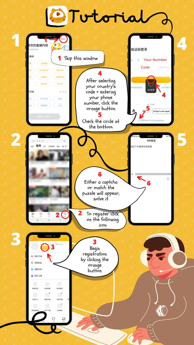 """HUYA APP TUTORIAL 📱  Here's how to watch Kai's gaming broadcast for SM Super Idol League on HUYA app.   📥 Download links:  iOS:  Android:   📍Kai's Channel: """"EXO-KAI"""" #KAI #카이 #엑소카이 #KNU_Tutorial"""