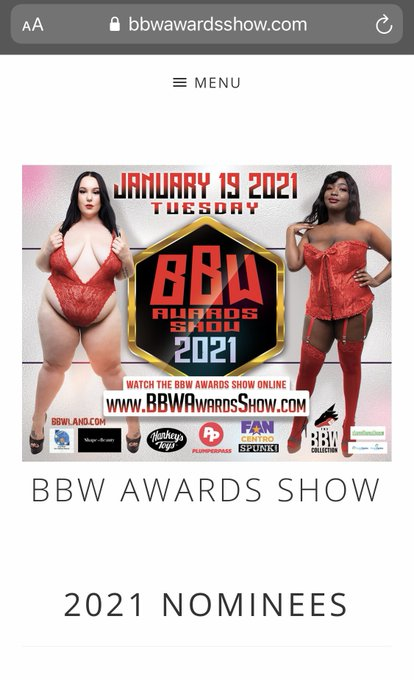 1 pic. My nominations from @BBWAwardsShow best cosplay, most creative scene, and best tattooed alt model
