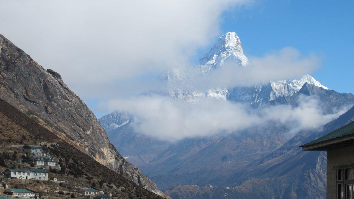 Mount Ama Dablam 6812m  One of the most beautiful, visible and astonishingly stunning mountain in the the Khumbu Himalaya of Nepal.   #AmaDablam #Khumbu #Himalaya #Mountains #Nature #Everest #Sherpa #Mountaineering #Trekking #Climbing #Expedition #Adventure #Nepal