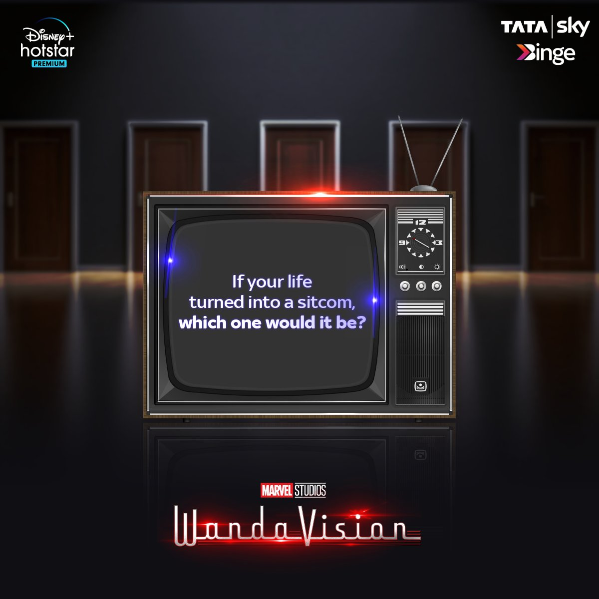 Scarlet Witch and Vision are back from the future and are happily living before? Wait! That doesn't seem right. Watch Marvel Studio's WandaVision on @DisneyplusHSP with Tata Sky Binge.  Click here to get BINGE-ING-   #EntertainmentKoBadaKaro #BingeKaro