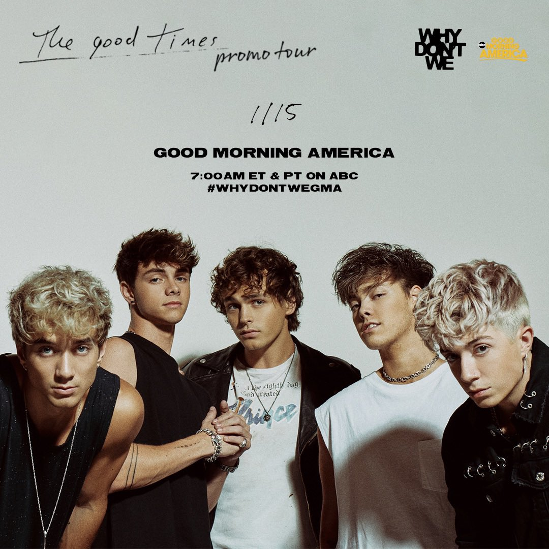 Replying to @whydontwemusic: we'll be on @GMA tomorrow morning at 7 am est / pst. #TGTATBO