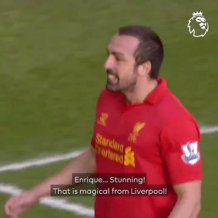 Coutinho ➡️ Enrique ➡️ Suarez ➡️ Sturridge ➡️ Enrique ➡️ 𝗚𝗢𝗔𝗟  🔴 A fantastic team goal from @LFC 🔴
