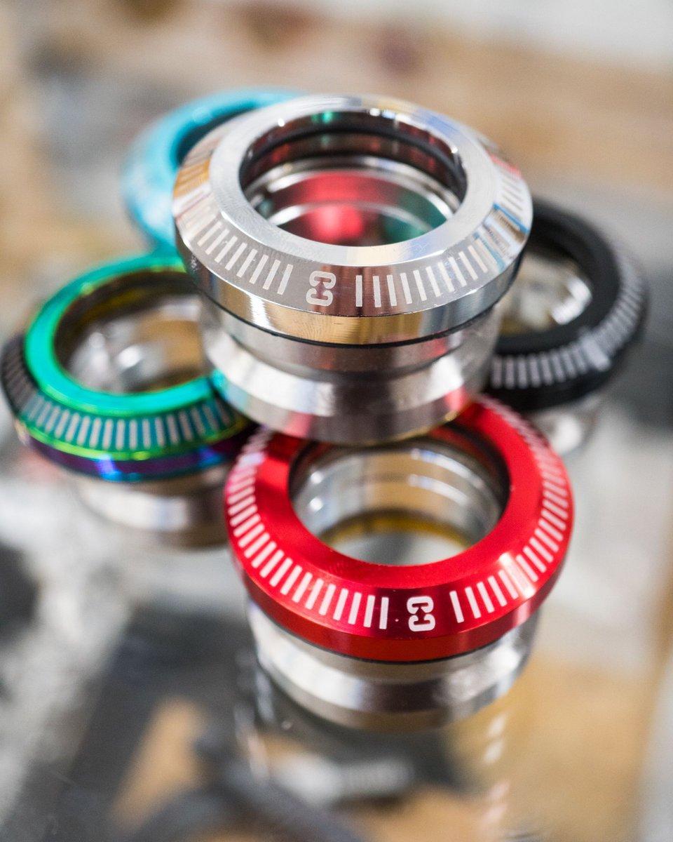 Headsets restocked in all colours 😍  #ridecore #coreuk #scooter #bike #bmx #headset #macro
