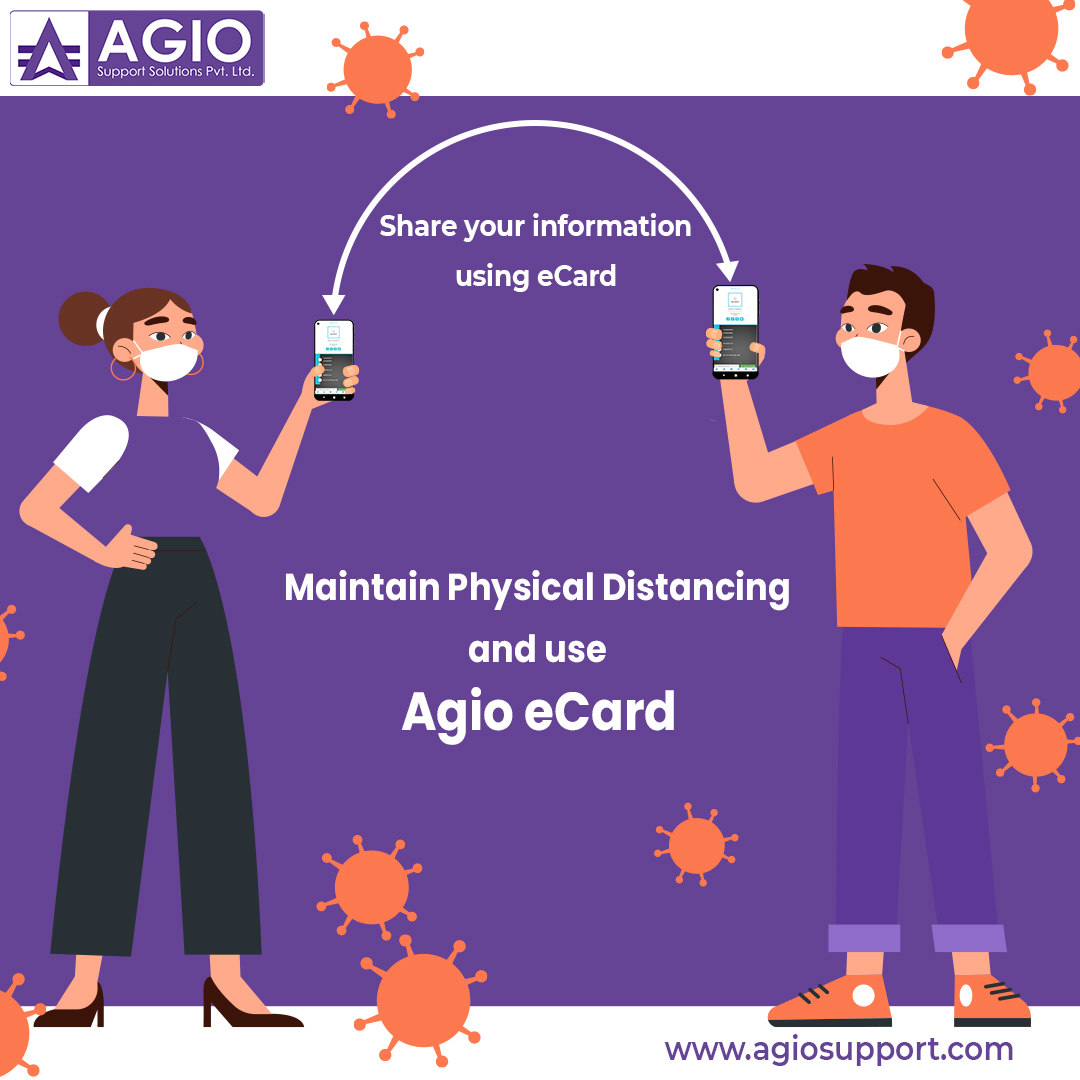 During this pandemic, the use of the Agio eCard (Digital Business Card) is not optional, it's necessary for you and your customers' safety.  Visit our website   #ecard #ecards #agio