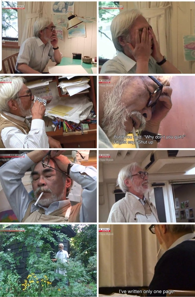 Pretty sick I have the same writing process as Miyazaki
