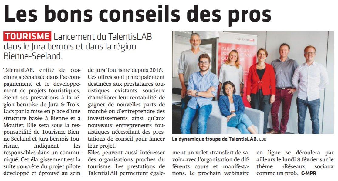 Aujourd'hui dans le @JournalduJura 🤩  https://t.co/nedkFbkZ7y  @TalentisLAB @Jura3Lacs @GDavot #Tourisme #tendance #coaching @vonAllmenOliver https://t.co/Xsu1NqnU2Y
