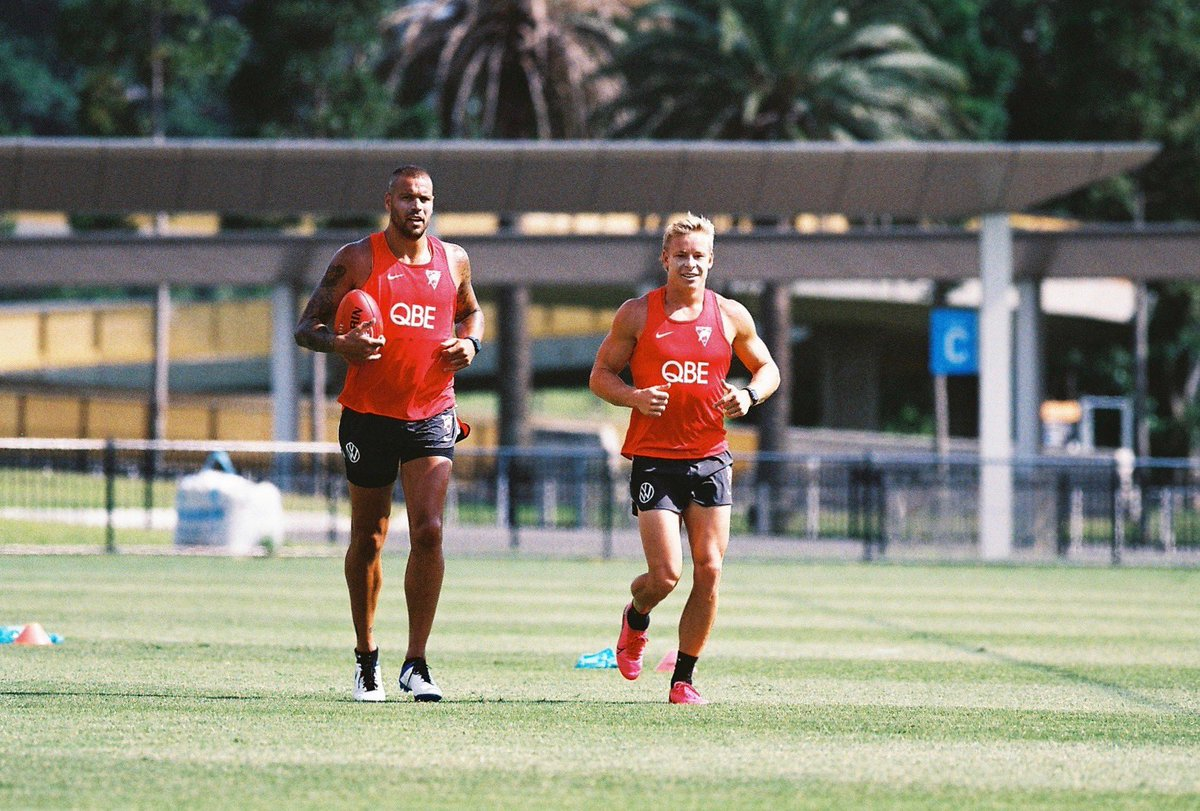 Replying to @sydneyswans: The boys 💪🏾 #Bloods