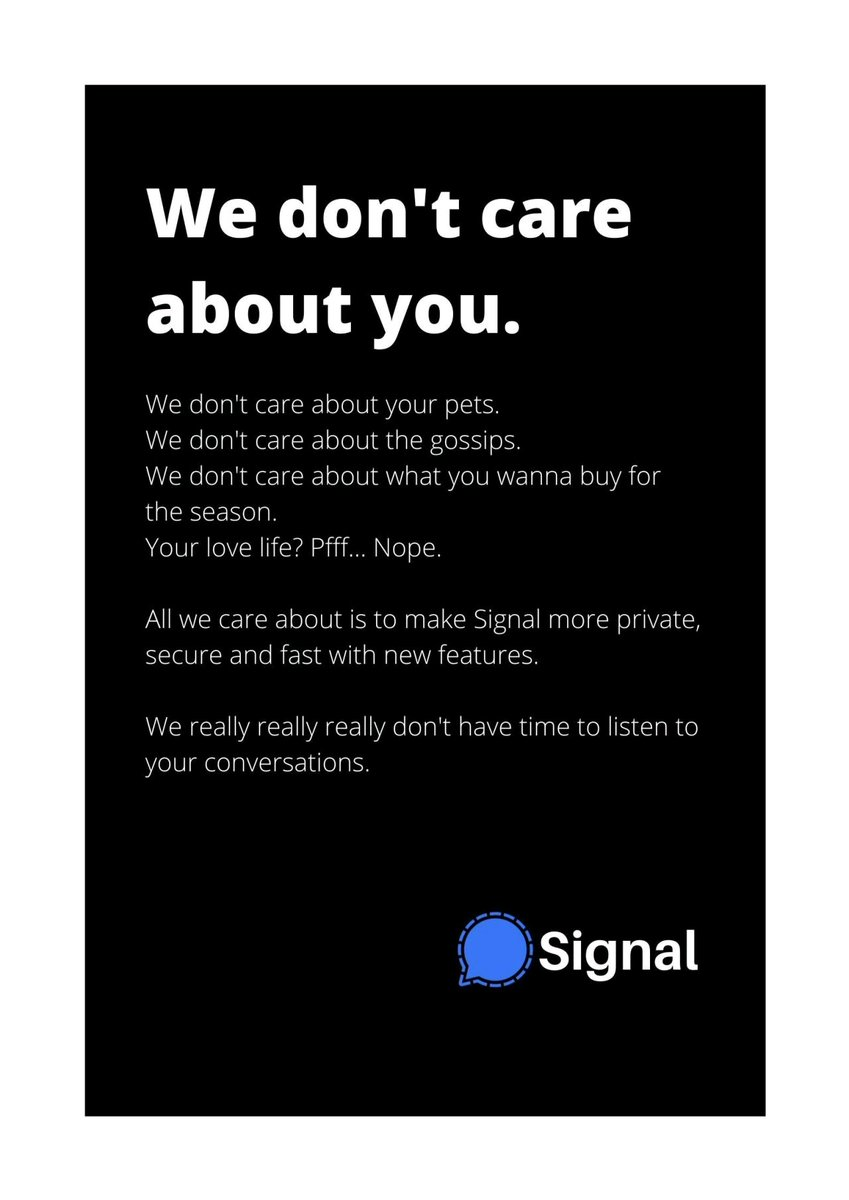 Replying to @FlirtingKaapi: Signal has won this round.