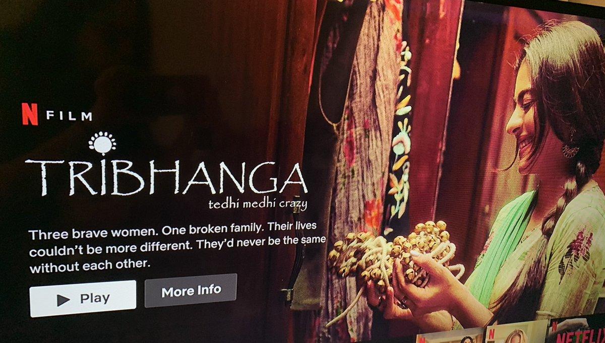 And the most awaited hour is here! #Tribhanga is streaming now on @NetflixIndia Thank you to the entire team! @ajaydevgn @ADFFilms @deepak30000 @NegiR @AlchemyFilms @sidpmalhotra @ParagDesai @itsKajolD @mipalkar @renukash @ikunaalroykapur @Meena_Iyer @KumarMangat @NetflixIndia