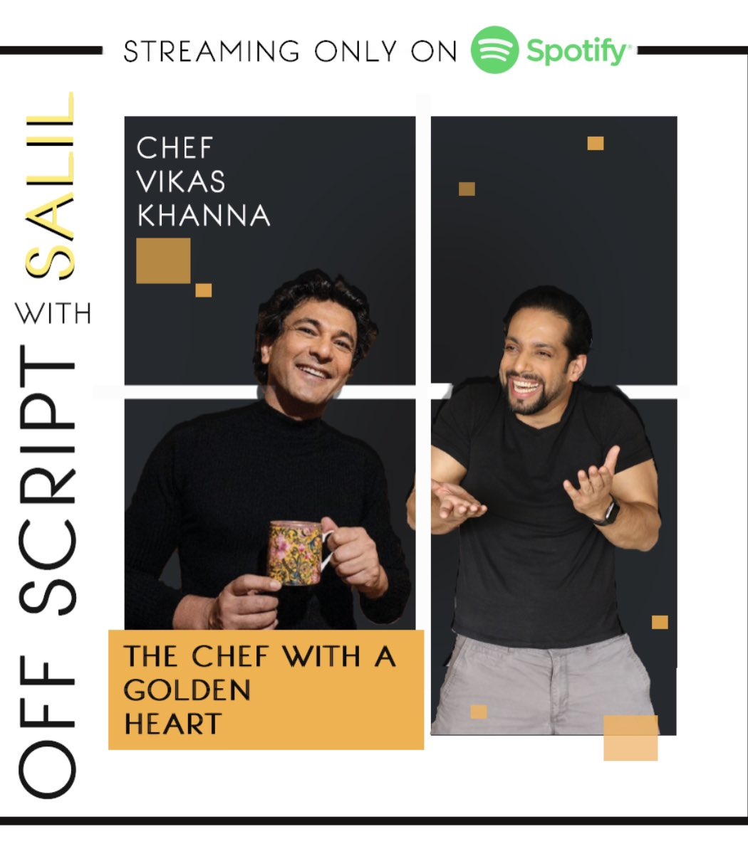 Hes magical ...  new episode out now @TheVikasKhanna on @spotifyindia #podcast #vikaskhanna #salilacharya #offscriptwithsalil