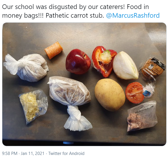 Some thoughts from Heaven and me about those miserly #foodparcels. Being as I'm a [not very] holy nun, I've measured my words nearly as well as the contractors measured the penne and peppers... #ENDCHILDFOODPOVERTY #FSM