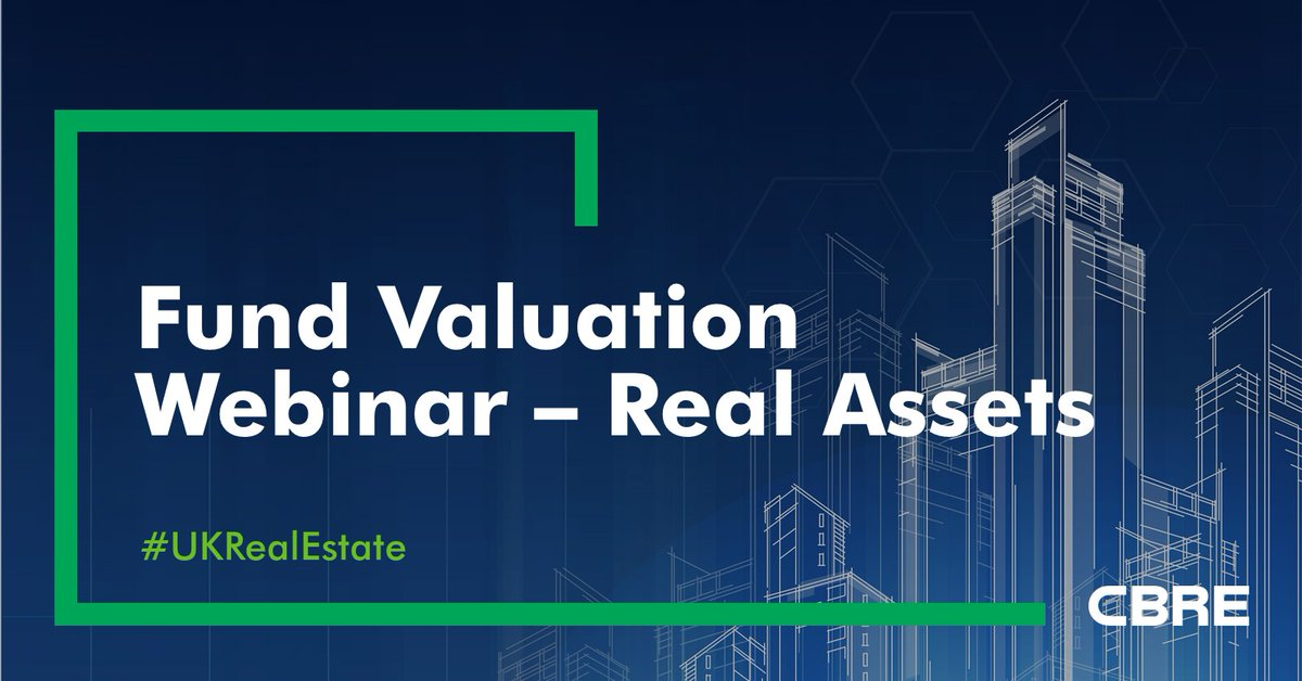 Join our #FundValuation #webinar on 21st January at 11am. Lee Bruce, Head of Fund Valuation - Real Assets will be joined by Miles Gibson who will present CBRE's formal forecasts for the #UKeconomy & #propertymarket. Register your interest: https://t.co/0zkVtToh5P #UKRealEstate https://t.co/W4tVU8vEjb