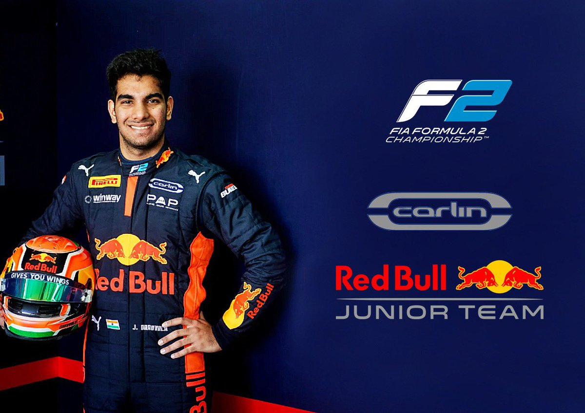 I'm really grateful to Red Bull for their continued faith in me 😀 and delighted to announce that I will drive for @CarlinRacing in @FIA_F2 in 2021✅...I have a great relationship with the team and I'm confident we can have a strong season together 💪🏼