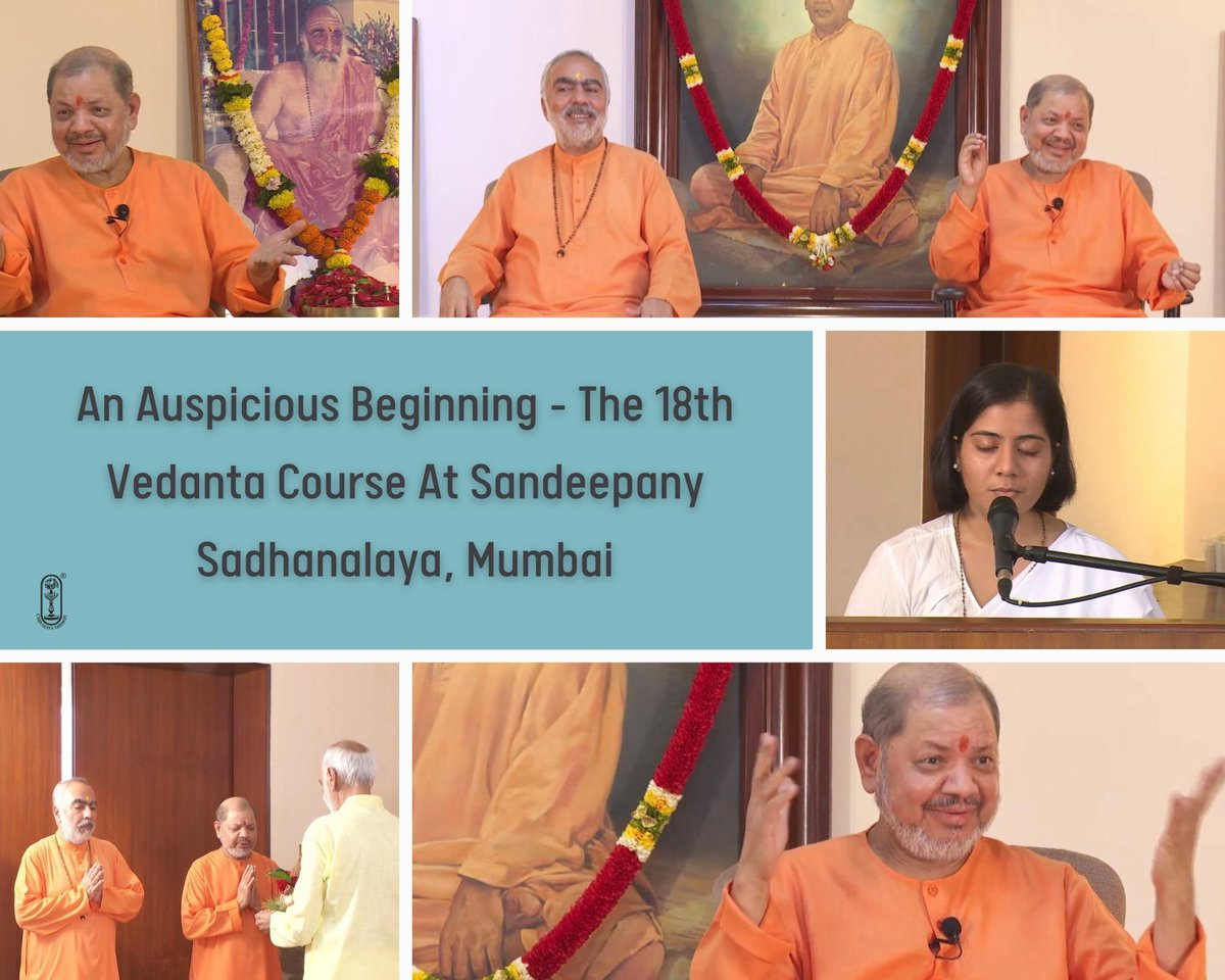 Beautiful glimpses from the inauguration ceremony of the 18th Vedanta Course (2021-2023) at Sandeepany Sadhanalaya, Mumbai and the divine morning Puja at the temple.  #chinmayamission  #vedanta #advaita #sanatandharma #hindudharma #consciousness #brahman