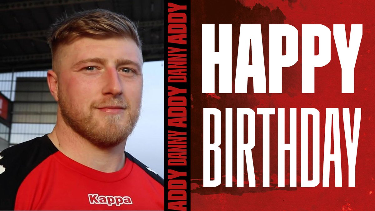 🎂 𝗛𝗔𝗣𝗣𝗬 𝗕𝗜𝗥𝗧𝗛𝗗𝗔𝗬 @dannyaddy32!  🥳 We cannot wait for your first season with the Red Devils!   💪 #TogetherStronger   🏟️ You can join Danny at the AJ Bell Stadium👉