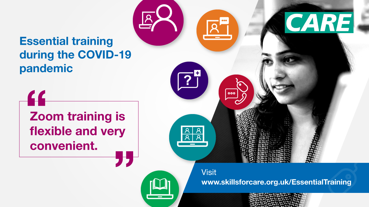 test Twitter Media - Essential training to support rapid induction for new staff, refresher training for existing staff or an induction programme for volunteers. Supported by the DHSC and CQC. ➡️ Find out more: https://t.co/qhfkqiBqOw https://t.co/zoOwQi9GXe