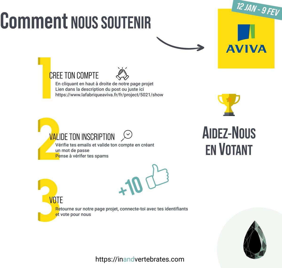 Nous avons besoin de vous pour gagner le #concours @LaFabriqueAviva 💪🏼 Suivez le tuto et venez voter pour nous ! 👉🏻  #LaFabriqueAviva #oncomptesurvous