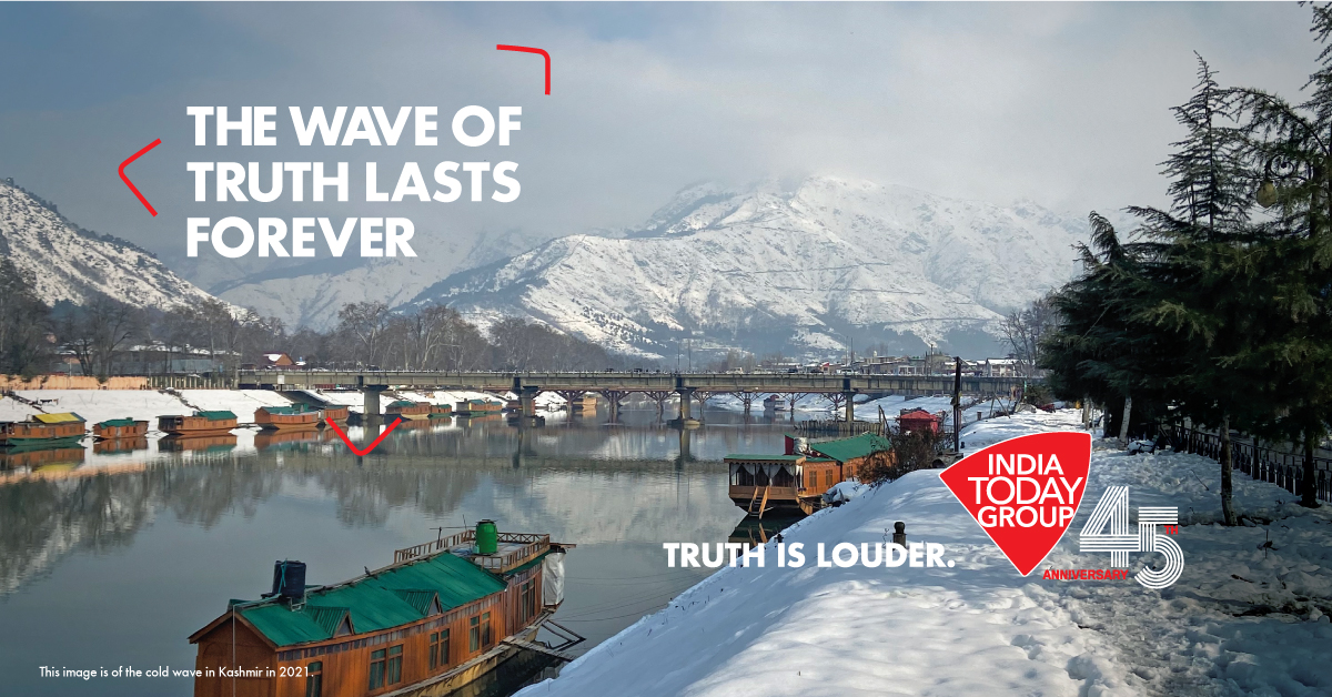 Be it high or low, the wave of truth lasts forever!  #TruthIsLouder #IndiaTodayGroupAt45