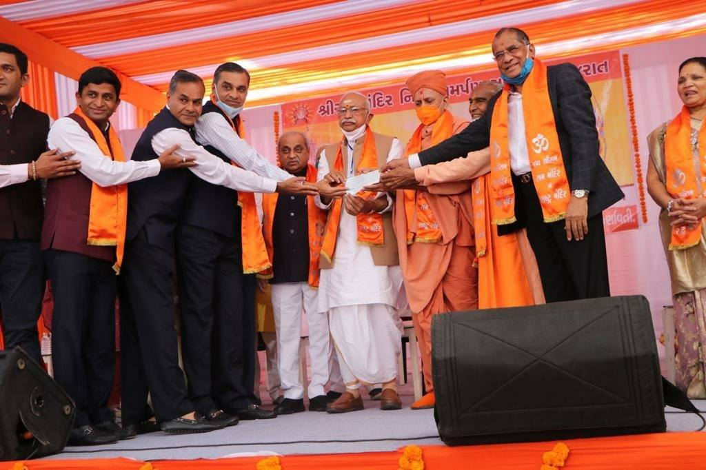 Ram Janmabhumi Mandir fund collection in Gujarat: Rs. 18.61 crore from Morari Bapu, 11 crore from Govindbhai Dholakia, 5 crore from Kabutarwala