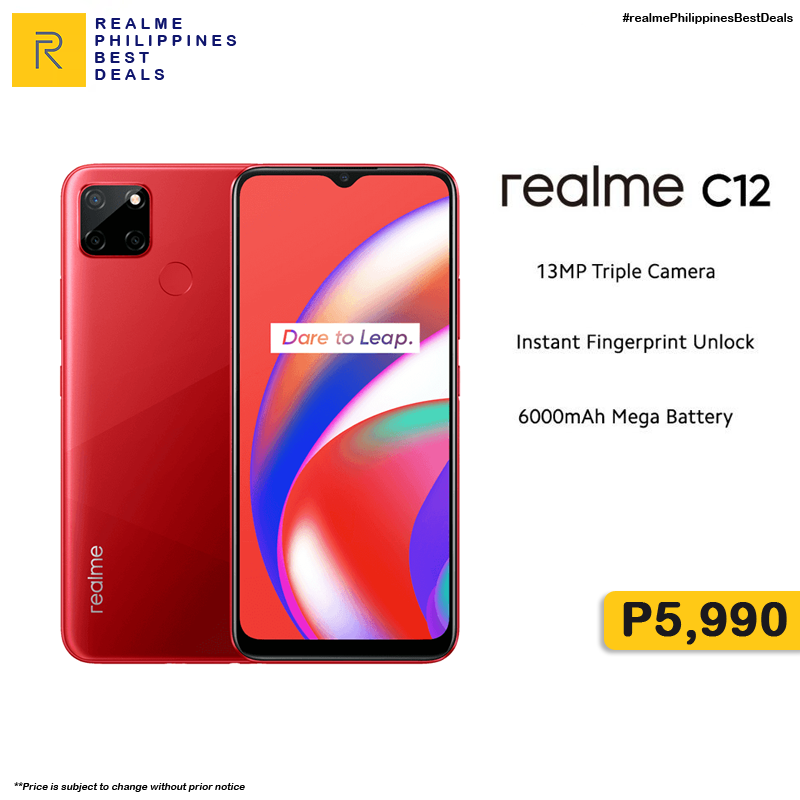 #realmePH #DareToLeap ‼Realme C12 3GB+32GB‼️ 🛒ORDER HERE!➡  🛒ORDER HERE!➡  ₱5,990  🚚Cash on Delivery 🚚Nationwide Delivery  **Price is subject to change without prior notice  #realmeC12 #realmeXLazMall #NasaLazadaYan #payday