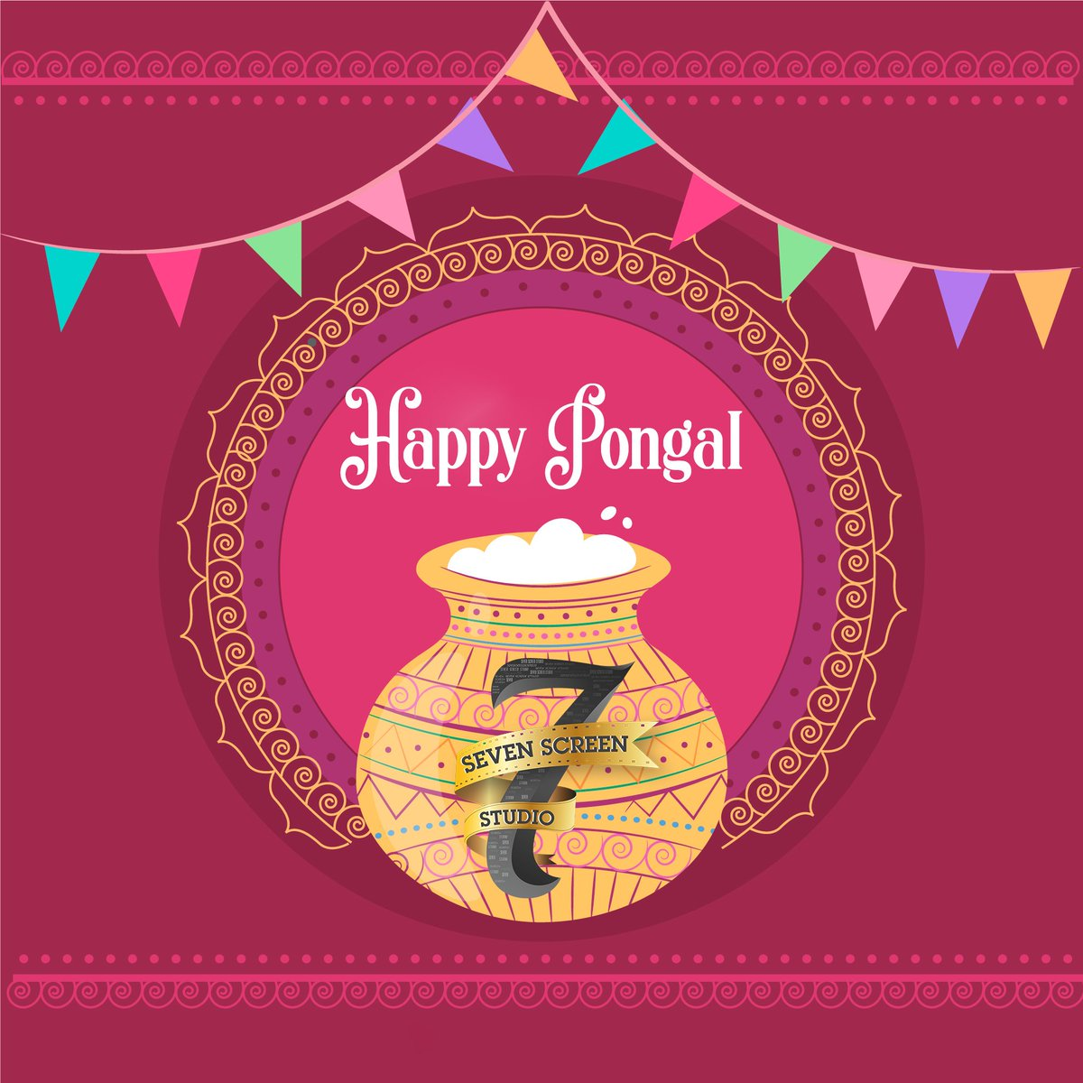 Team @7screenstudio wishing you all a very very #HappyPongal 💮💮  இனிய பொங்கல் வாழ்த்துக்கள் 🌾🌾  #MasterPongal