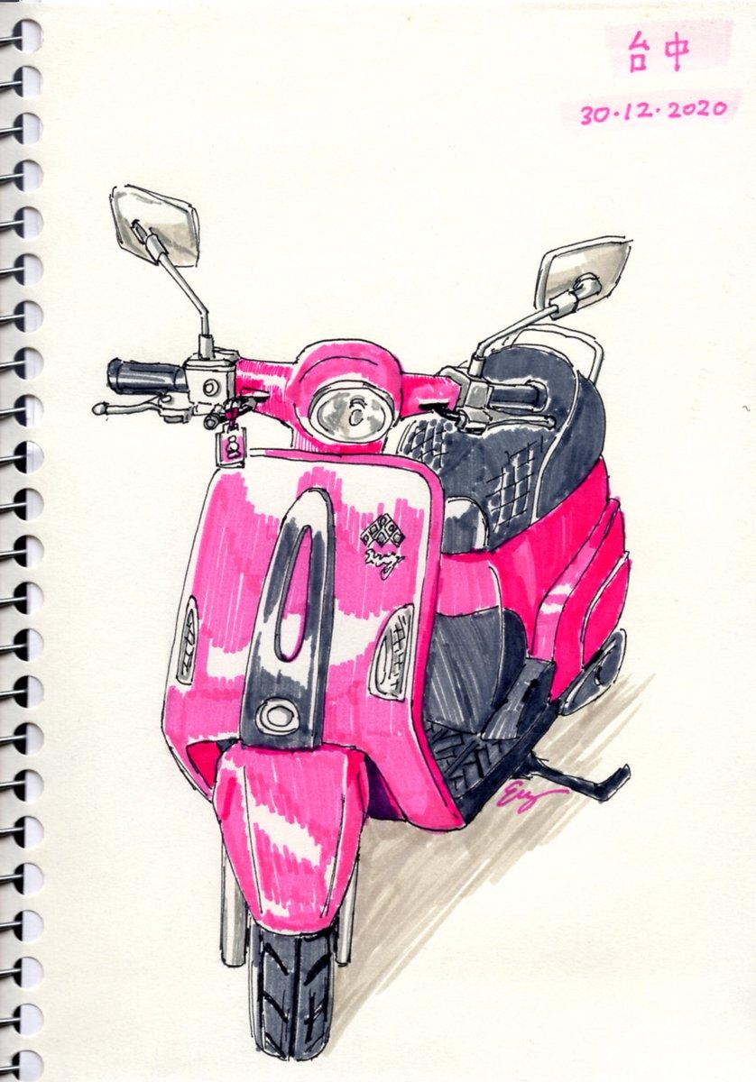 台中街頭收集的綿羊仔。 Some scooter pictures I have been collecting from the streets of Taichung.  #art #myart #illustration #sketchbook #sketch #taiwan #taichung #scooter  #motorbike #motorcycle #スクーター #オートバイ #落書き #スケッチ #台灣 #台中 #台湾