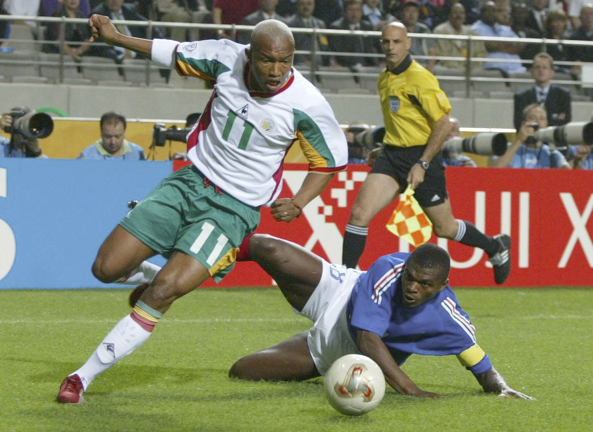 😀 El Hadji Diouf had that #FridayFeeling on the last day of May 2002 – he inspired Senegal to victory over France in one of the greatest upsets in #WorldCup history 😲  🎂 He's got the same feeling this Friday – he has 40 candles to blow out! Many happy returns, El Hadji 🎈