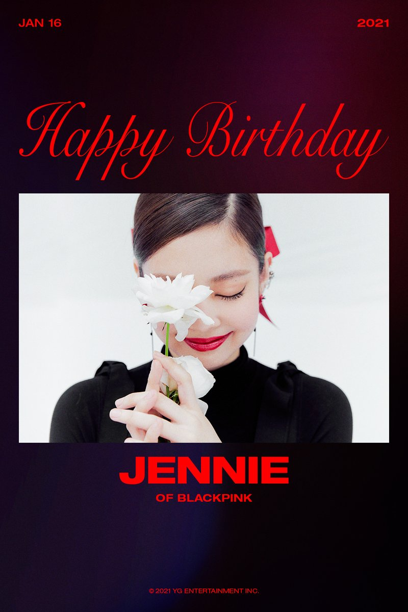 HAPPY BIRTHDAY JENNIE 🎉 ✅ 2021.01.16  #BLACKPINK #블랙핑크 #JENNIE #제니 #HAPPYBIRTHDAY #20210116 #YG