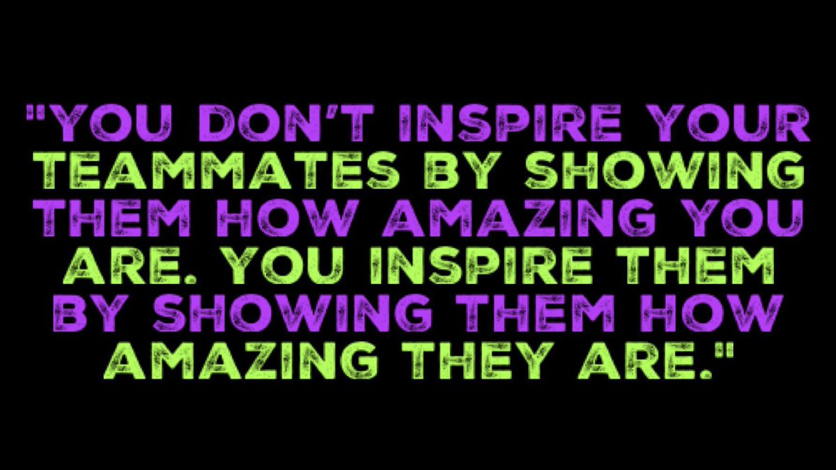 """— """"You don't inspire your teammates by showing them how amazing you are. You inspire them by showing them how amazing they are."""" — Robyn Benincasa #FridayMotivation #leadership #inspiration #quote via #FF_Specialツ 👉 @elaine_perry"""