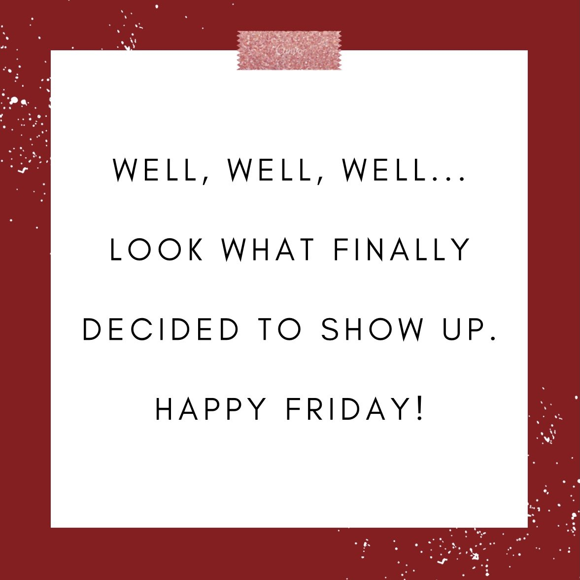 It's FRIDAY! What are your weekend plans? #FridayFeeling #FridayThoughts