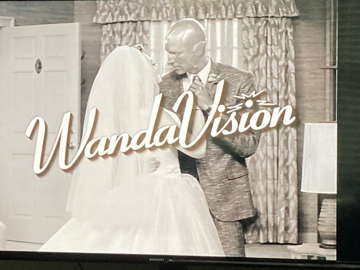 Starting off the morning right #WandaVision