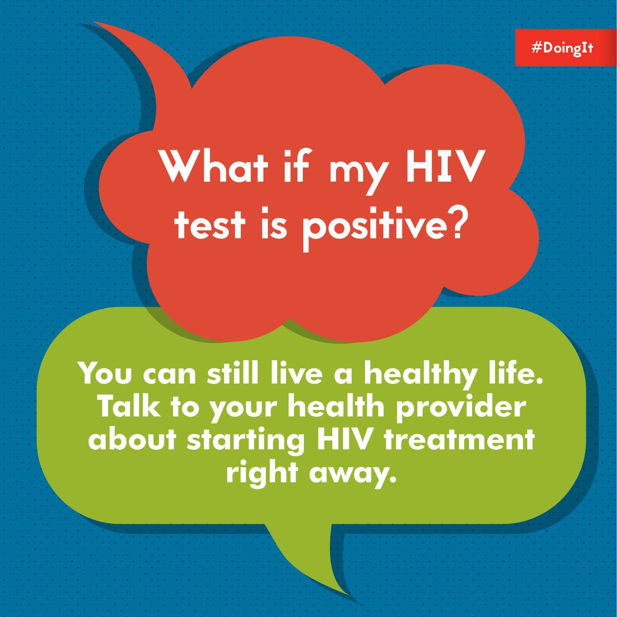 Getting tested can help us start conversations about #HIV and allows us to make informed decisions about our health. Visit  to find a testing site and learn your status. #DoingItTogether #StopHIVTogether