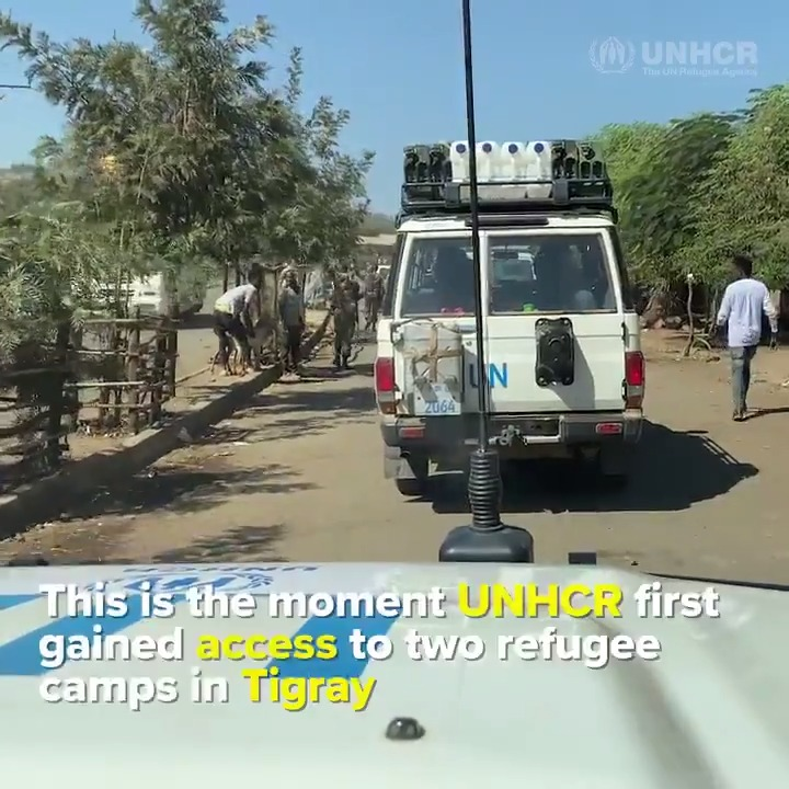 UNHCR needs safe and unlimited access to Ethiopia's Tigray region to continue delivering humanitarian support.